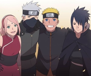 team 7, naruto shippuden, and uchiha sasuke image