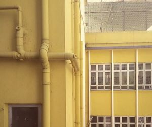 aesthetic, architecture, and yellow image