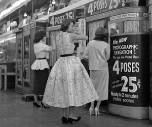 vintage, black and white, and 50s image
