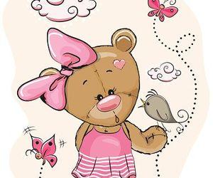 bird, kawaii, and teddy girl image