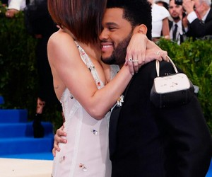 selena gomez, the weeknd, and met gala image