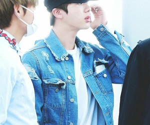 jin, bts, and fashion airport image