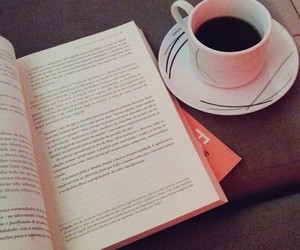 book, coffee, and life image