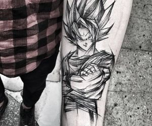 tattoo, dragonball, and goku image