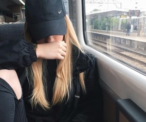 girl, blonde, and cap image