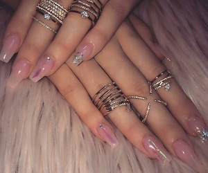 nails, accessories, and dress image