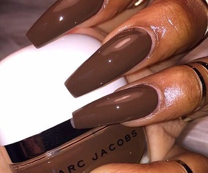 nails, brown, and marc jacobs image