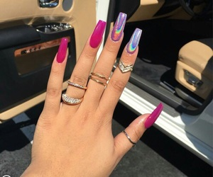 holographic, hot pink, and magenta image