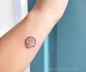 tattoo, shell, and tatto image