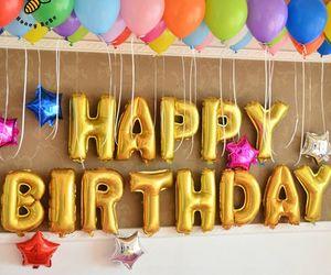 balloon, birthday, and bday image