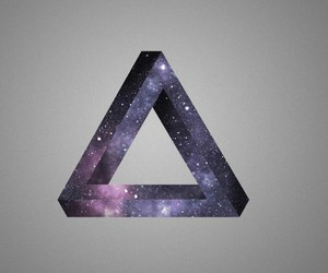 triangle, galaxy, and purple image