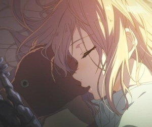 anime, violet evergarden, and doll image