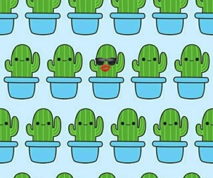 background, cute, and cactus image