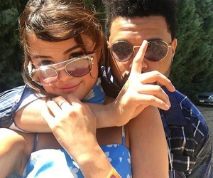 the weeknd, selena gomez, and the weekend image