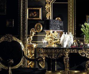 luxury, gold, and black image