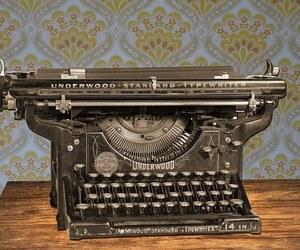 manual, old, and typewriter image