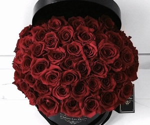 bouquet, flowers, and roses image
