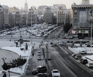 city, kiev, and snow image