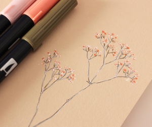 doodles, drawing, and flowers image