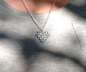heart, heart necklace, and necklace image