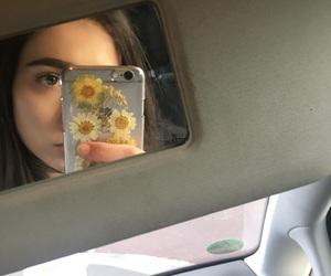 flowers, sunflower, and tumblr girl image