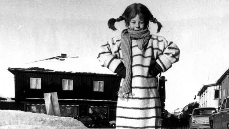 black and white, old, and pippi longstocking image