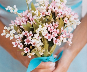 pastels, spring, and bouquet image