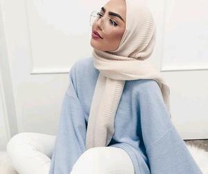 blue, hijab, and girl image
