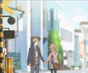 kyoukai no kanata, anime, and school image
