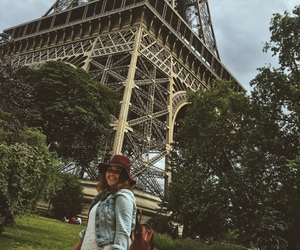 eiffel tower, french, and smile image