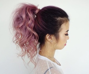 beauty, coloured hair, and curly hair image