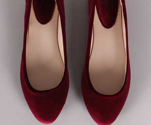 ballerina, ballet flats, and burgundy image