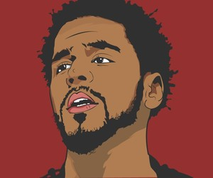 cartoon, drawing, and j cole image
