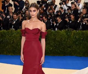 taylor hill, model, and met gala image