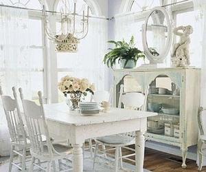 shabby chic, white, and interior image