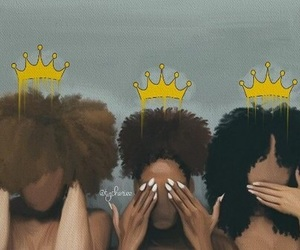 black, Queen, and women image