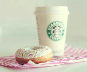 donuts, photography, and starbucks image