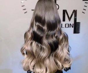 blonde, hair, and balayage image