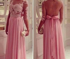 pink and prom dress image