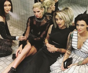 bella hadid, met gala, and ruby rose image