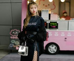 black, fashion, and korean fashion image