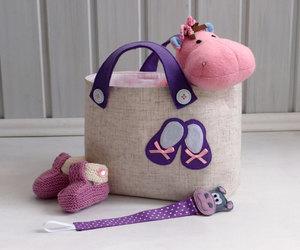 baby girl, bag, and handmade image