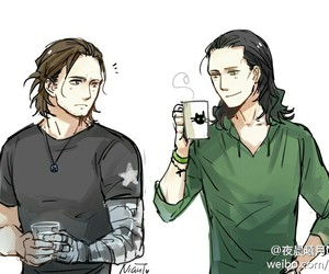 loki, Marvel, and bucky image