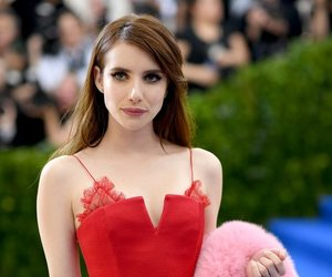 emma roberts, dress, and red image