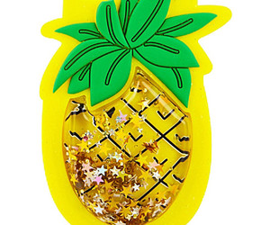 gold glitter, pineapple, and stars image