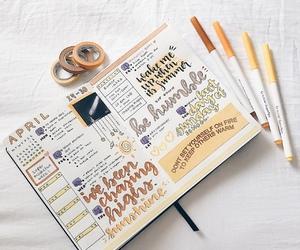 art, journal, and study image