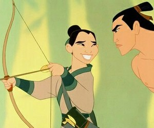 mulan, disney, and shang image