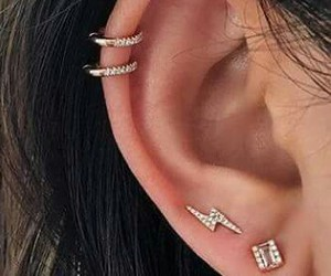 ear, piercing, and girl image