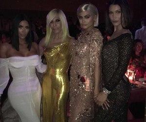 kylie jenner, bella hadid, and kim kardashian image