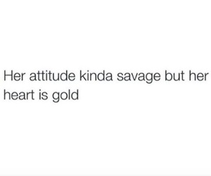 quotes, savage, and attitude image